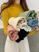 套頭針織 秋季薄款毛衣韓版百搭長袖針織衫女秋冬半高領套頭打底衫 芊墨左岸