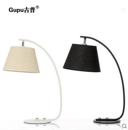 現代簡約LED裝飾布藝檯燈 創意臥室調光餵奶床頭燈【遙控開關】