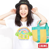【Pentel 聯名款】CHUMS 日本 女 DIY塗鴉著色T-Shirt 彩虹款 附蠟筆 CH1105090000