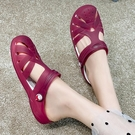 洞洞鞋女夏季果凍涼鞋女韓版時尚平底防滑沙灘鞋新款甜美學生拖鞋