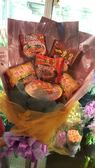 (YD-555)新北市永和花店情意花坊超級商城-搞笑泡麵花束/生日搞笑花束公仔麵花束1300元