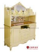 [紅蘋果傢俱] CT-01餐邊櫃 新古典系列 新古典 餐邊櫃 玄關櫃 櫃子 儲物櫃 金箔 銀箔 雕花雕刻
