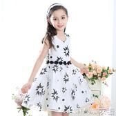 夏季女童裝童裝新款花朵裙兒童洋裝禮服  原本良品