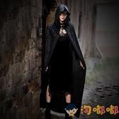 萬聖節服裝蕾絲面具披風COS演出巫師死神黑袍恐怖吸血鬼斗篷【淘嘟嘟】