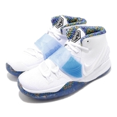 Nike 籃球鞋 Kyrie 6 GS 白 藍 女鞋 大童鞋 運動鞋 【PUMP306】 BQ5599-146