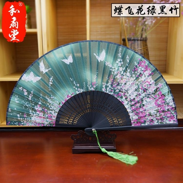 和扇堂日式折扇中國風女式絹扇折疊扇子