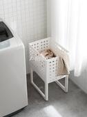 日本臟衣服收納筐可折疊家用臟衣簍洗衣籃塑料裝衣服桶籃子收納筐  YXS 交換禮物