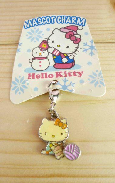 【震撼精品百貨】Hello Kitty 凱蒂貓~KITTY吊飾拉扣-聖誕系列-毛綠
