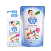 雪芙蘭親貝比 - 嬰幼兒奶瓶清潔劑(奶蔬洗潔液) 1罐700ml + 1補充包600ml