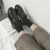 新款黑色小皮鞋女復古英倫風韓版百搭單鞋mandyc衣間