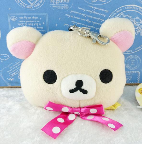 【震撼精品百貨】Rilakkuma San-X 拉拉熊懶懶熊~造型票夾 蝴蝶粉 白點
