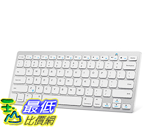 [106美國直購] Anker Bluetooth Ultra-Slim Keyboard for Mobile Devices-White 鍵盤