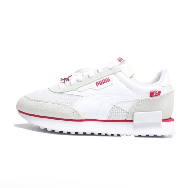 PUMA 休閒鞋 FUTURE RIDER GALENTINES 白 紅標 愛心星星 鞋扣 情人節款 女(布魯克林) 38012101