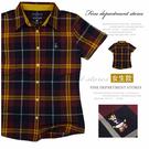 【大盤大】TEENIE WEENIE 韓國製 S號 女 修身款 百貨專櫃 韓風 格紋 襯衫 短袖 蘇格蘭 禮物