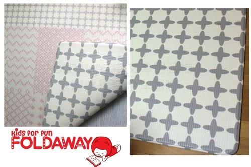 FoldaWay PVC Mat(PVC遊戲墊)玫瑰線條+灰色幾何(大)230*140*1.5cm