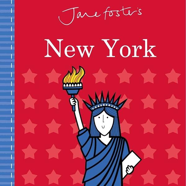 【高質感幼兒城市探索】JANE FOSTER'S NEW YORK /硬頁書 ※北歐風.圖騰設計大師作品 ※