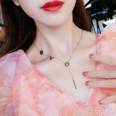 LOVE玫瑰金項錬女韓國簡約頸錬帶學脖子飾品choker項圈短款鎖骨錬 至簡元素