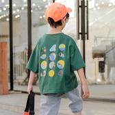 男童短袖T恤 男童短袖t恤2020年夏季新款兒童純棉體恤中大童裝夏裝