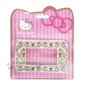 〔小禮堂〕Hello Kitty 寬版橫式三孔插座開關裝飾板《金.坐姿》開關蓋板.電源蓋板 8021048-00003