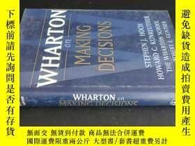 二手書博民逛書店WHARTON罕見ON MAKING DECISIONSY591