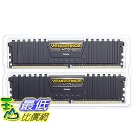 [106美國直購] Corsair Vengeance LPX 16GB(2x8GB)DDR4 DRAM 3000MHz C15 Desktop Memory Kit-Black(CMK16GX4M2B3000C15)