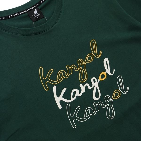 KANGOL 短袖 短T 綠 黃 白英文LOGO 袋鼠 棉 男 (布魯克林) 6021101970