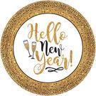 新年 尾牙 餐具 10.5吋圓盤18入-輝煌新年