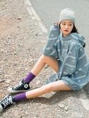 長襪子女中筒襪堆堆襪韓國ins潮流夏季網紅薄款夏天黑色街頭透氣 檸檬衣舎