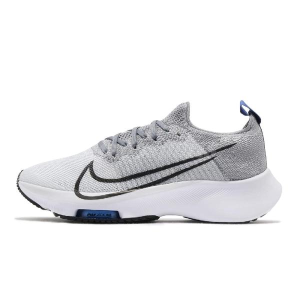 Nike 慢跑鞋 Air Zoom Turbo FK GS 灰 白 女鞋 大童鞋 氣墊設計 泡棉中底 運動鞋【ACS】 CJ2102-002