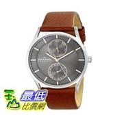 [104美國直購] Skagen 男士手錶 SKW6086 Holst  Stainless Steel Watch with Brown Leather band $5407