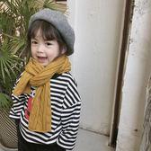 柒號童倉初冬兒童多色圍巾女童長款毛線圍巾圍脖加厚保暖 焦糖布丁