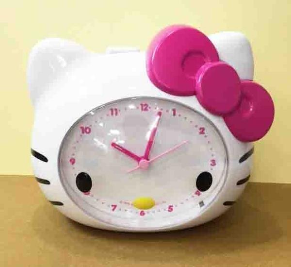 【震撼精品百貨】Hello Kitty 凱蒂貓~鬧鐘~大頭造型