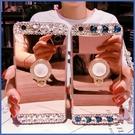 蘋果 iPhone12 Pro Max 12 Mini i11 Pro Max XR XS MAX iX 鏡面水晶支架殼 手機殼 鏡面 軟殼 貼鑽款