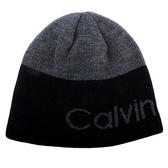 Calvin Klein CK 經典logo雙面兩用毛帽(黑色)103101
