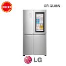 含安裝 LG 樂金 GR-QL88N 冰箱 InstaView™ 敲敲看門中門冰箱 星辰銀 / 820公升 公司貨