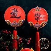 新年燈籠 創意燈籠發光福字燈新年春節過年古風中國風宮燈陽臺裝飾掛飾定制-限時折扣