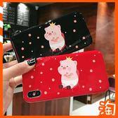 日韓新年卡通豬OPPO A57 F1S A3 AX5 R9 R9S R11保護殼亮面手機殼全包邊防摔軟殼 豬年時尚情侶款
