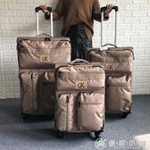 出口美國超輕帆布行李箱萬向輪拉桿箱外貿學生出國旅行箱20寸箱子 優家小鋪 igo