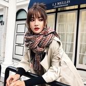 圍巾-仿羊絨彩色條紋保暖加厚女披肩3色73ub45【巴黎精品】