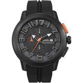 Tendence 天勢 圓弧系列計時手錶-黑/47mm TY016001