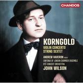【停看聽音響唱片】【CD】康果爾德:小提琴協奏曲/弦樂六重奏 哈弗羅恩 小提琴 威爾森 指揮
