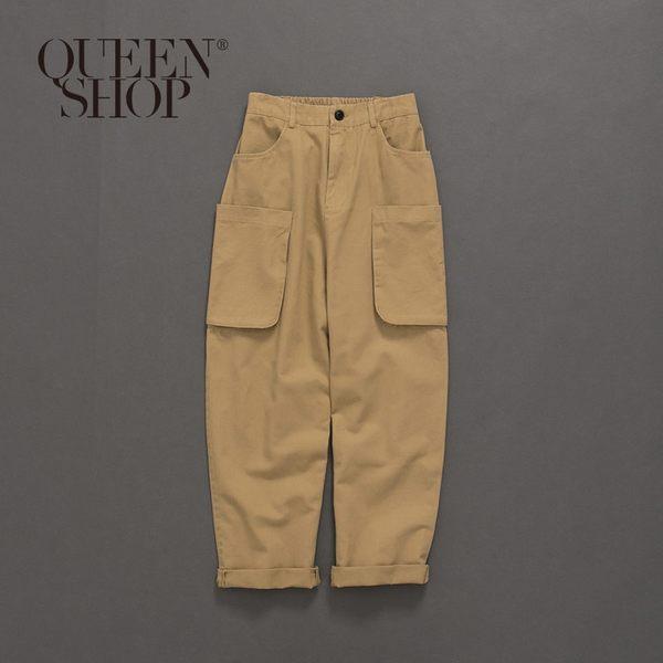 Queen Shop【04101326】親子系列造型立體口袋長褲 兩色售1/2/3/4*現+預*