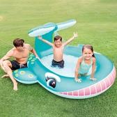 游泳池 嬰兒童充氣游泳池家庭大號海洋球池沙池家用寶寶噴水戲水池YYJ 伊莎gz