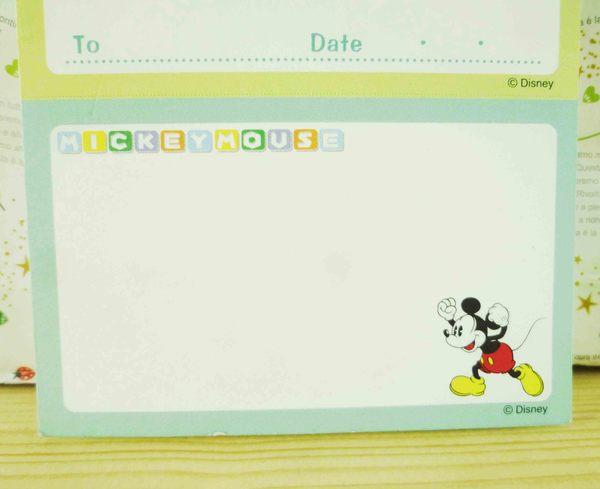 【震撼精品百貨】Micky Mouse_米奇/米妮 ~卡片式MEMO紙-綠色