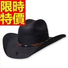 牛仔帽子大方高檔-西部風格走秀款型男典型男帽子1色57j3【巴黎精品】