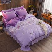 雙12購物節珊瑚絨四件套冬季加絨被套法萊絨床裙水晶絨床單1.8m米床上法蘭絨夏沫居家