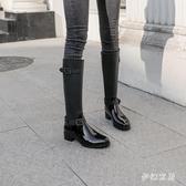 高筒雨鞋女韓版時尚防滑雨靴防水膠套鞋 QW8994『夢幻家居』