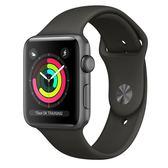 Apple Watch Series 3 GPS 38mm 太空灰色鋁金屬-灰色運動錶帶