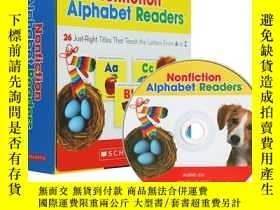 二手書博民逛書店Nonfiction罕見Alphabet Readers 英文原版 Scholastic學樂英語字母啟蒙教材 26