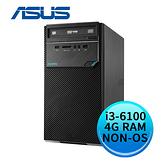 (不含作業系統) ASUS 華碩 D320MT-I36100005D (Intel i3-6100/4G DDR4/1TB/24X DVD-RW) 商用桌上型電腦
